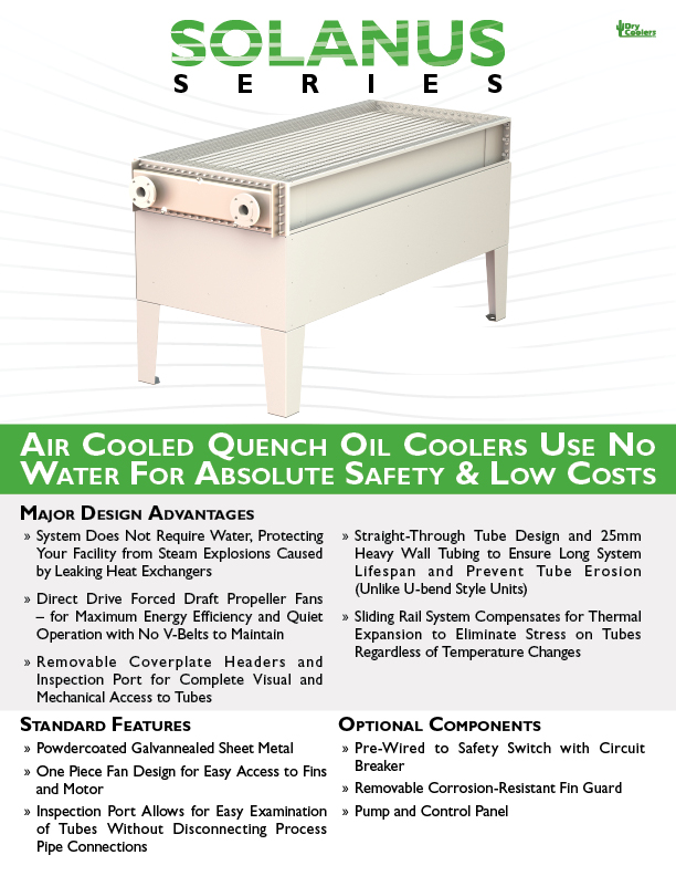 SQC-EN50 Solanus Series Air Cooled Quench Coolers