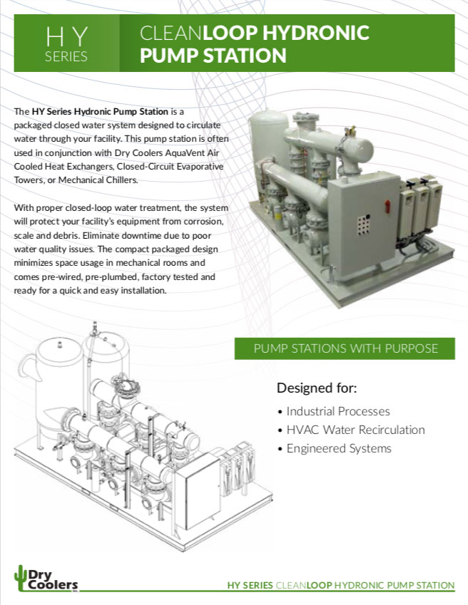 HY-1912: HY Series CleanLOOP Hydronic Pump Station