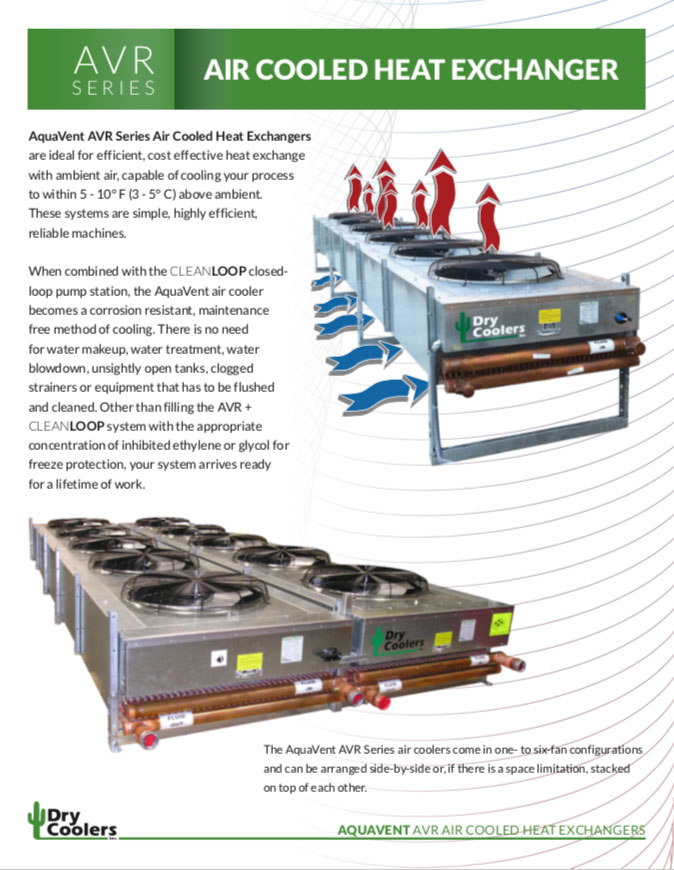 AVR 1402: AquaVent AVR Series Air Cooled Heat Exchangers