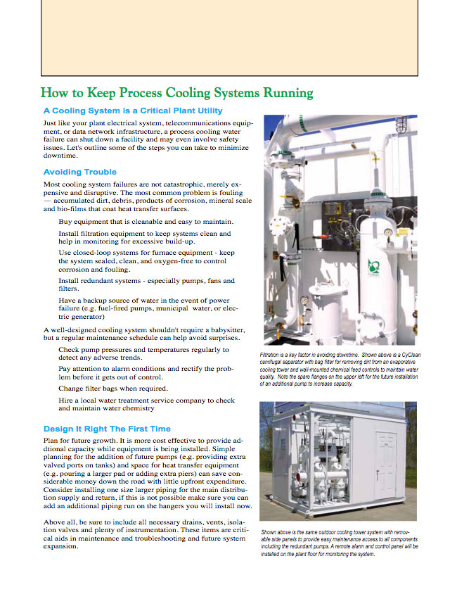 How to Keep Process Cooling Systems Running