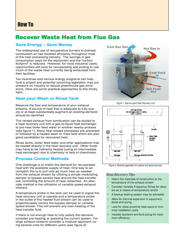 How To Recover Waste Heat from Flue Gas