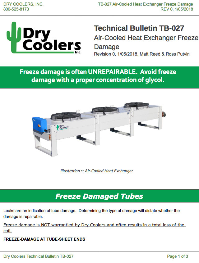 TB-027: Air-Cooled Heat Exchanger Freeze Damage