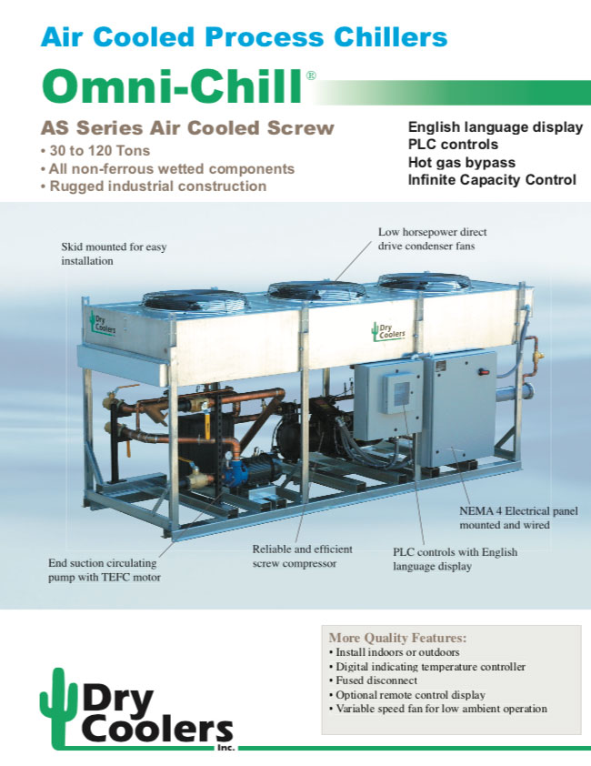 Omni-Chill Air Cooled Process Chillers: AS Series Air Cooled Screw